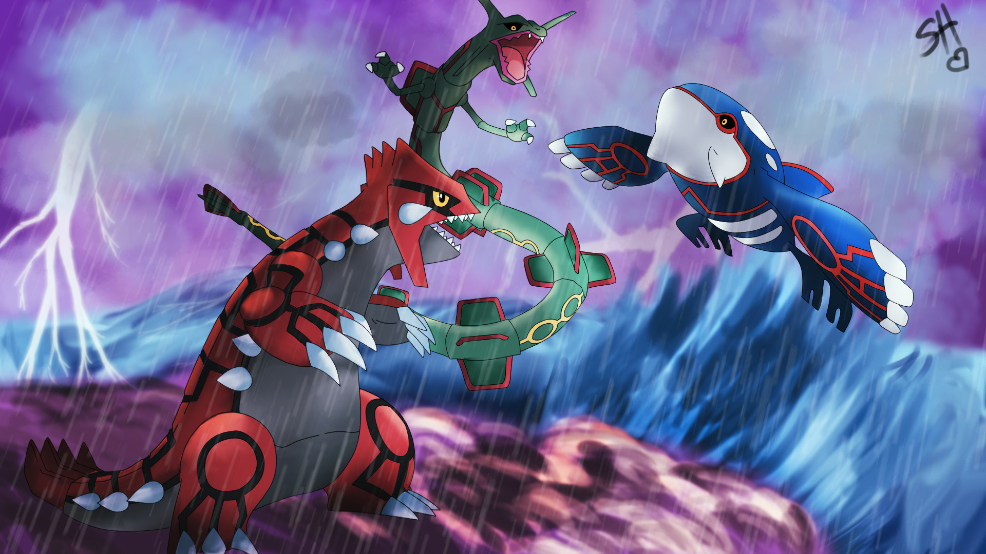 Groudon Kyogre And Rayquaza