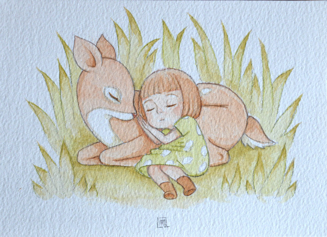 Sleeping with deer