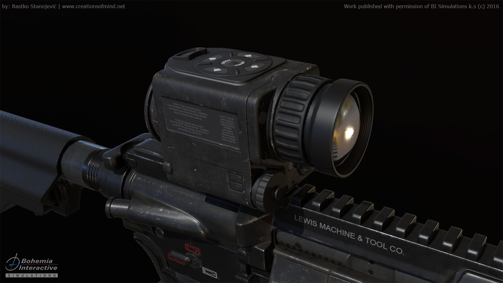 Game model EOTech CNVD-T2 real time render