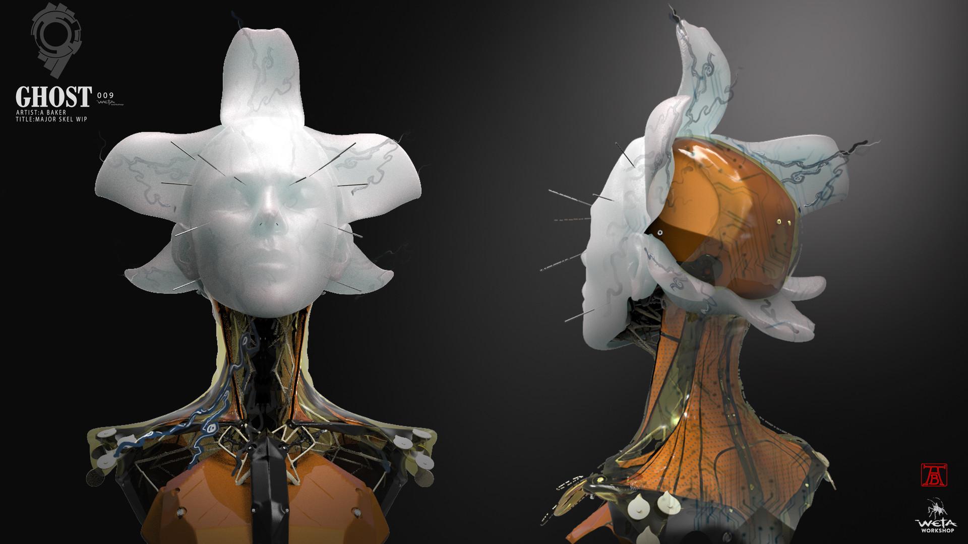 Major Skeleton Head - Artist: Andrew Baker