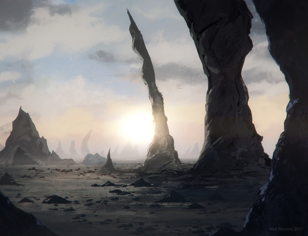 Neil blevins spikey alien landscape 1 rough