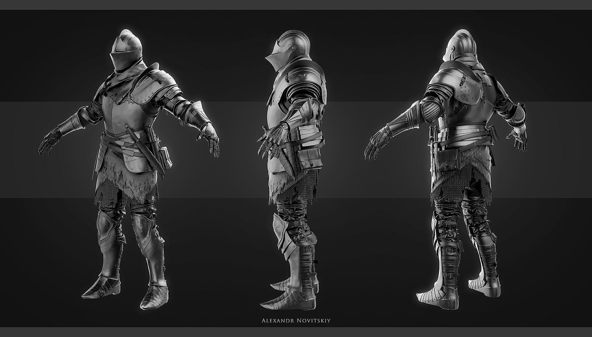 Alexandr novitskiy dark knight grey