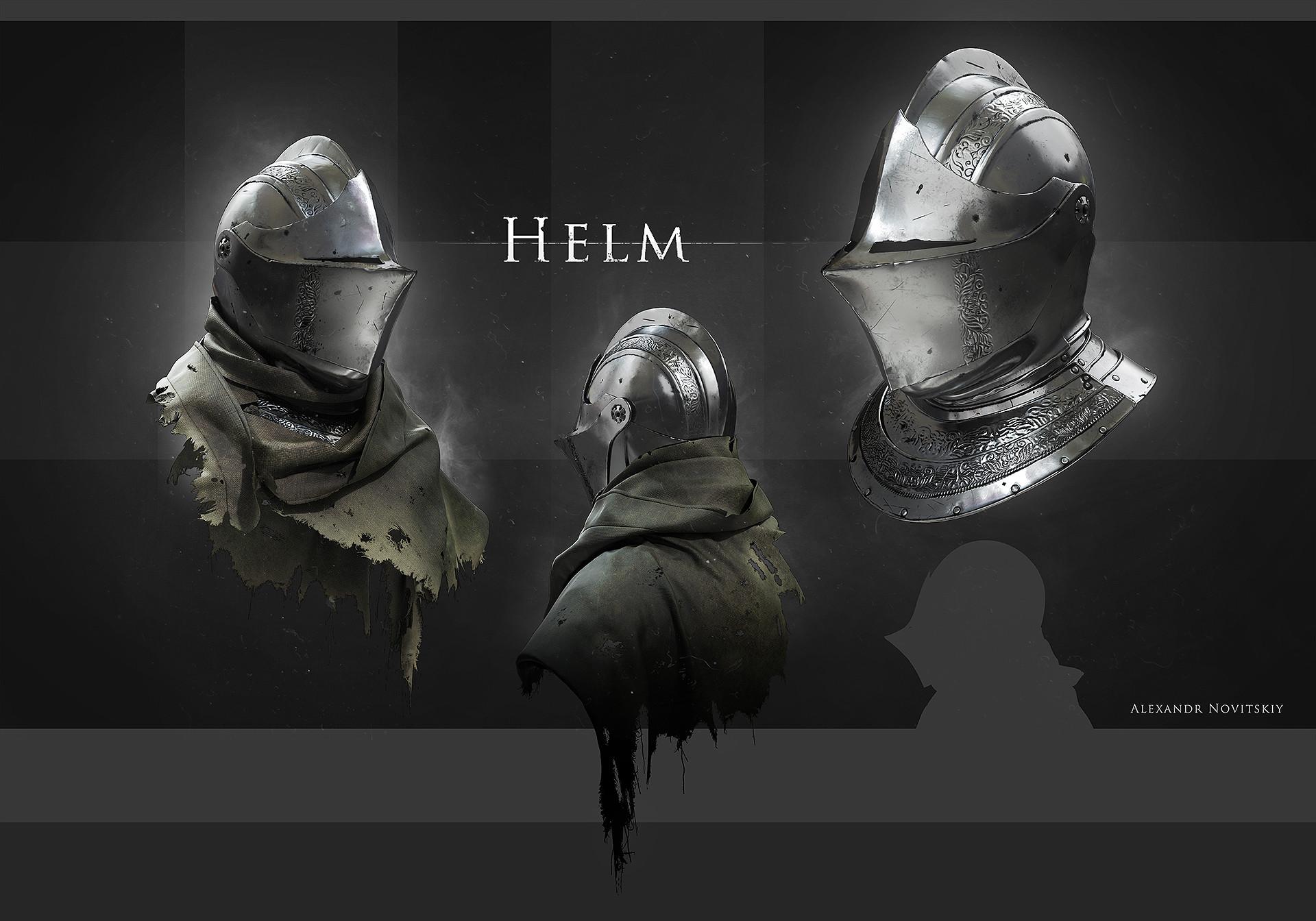 Alexandr novitskiy dark knight helm