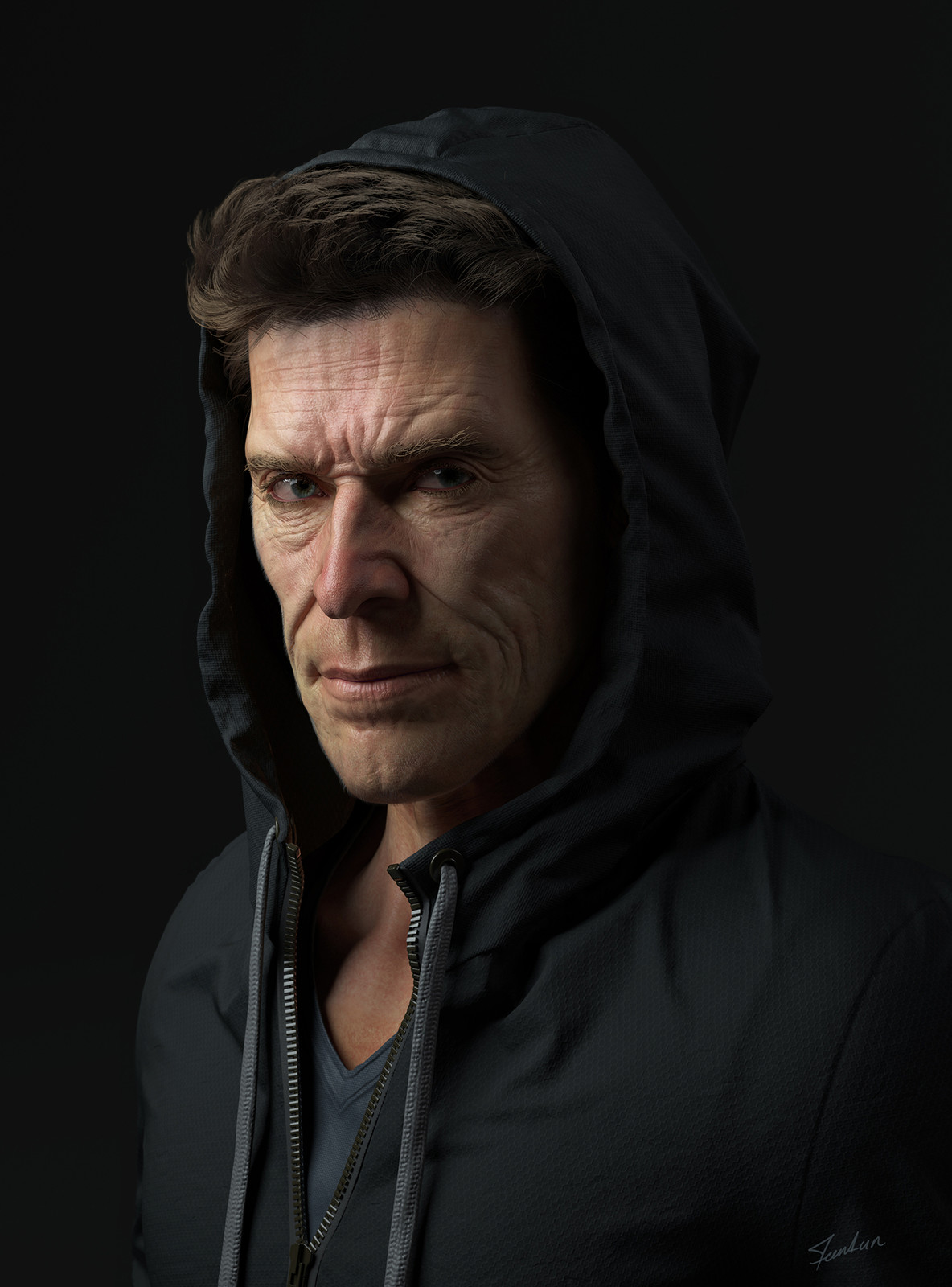 Portrait of Willem Dafoe