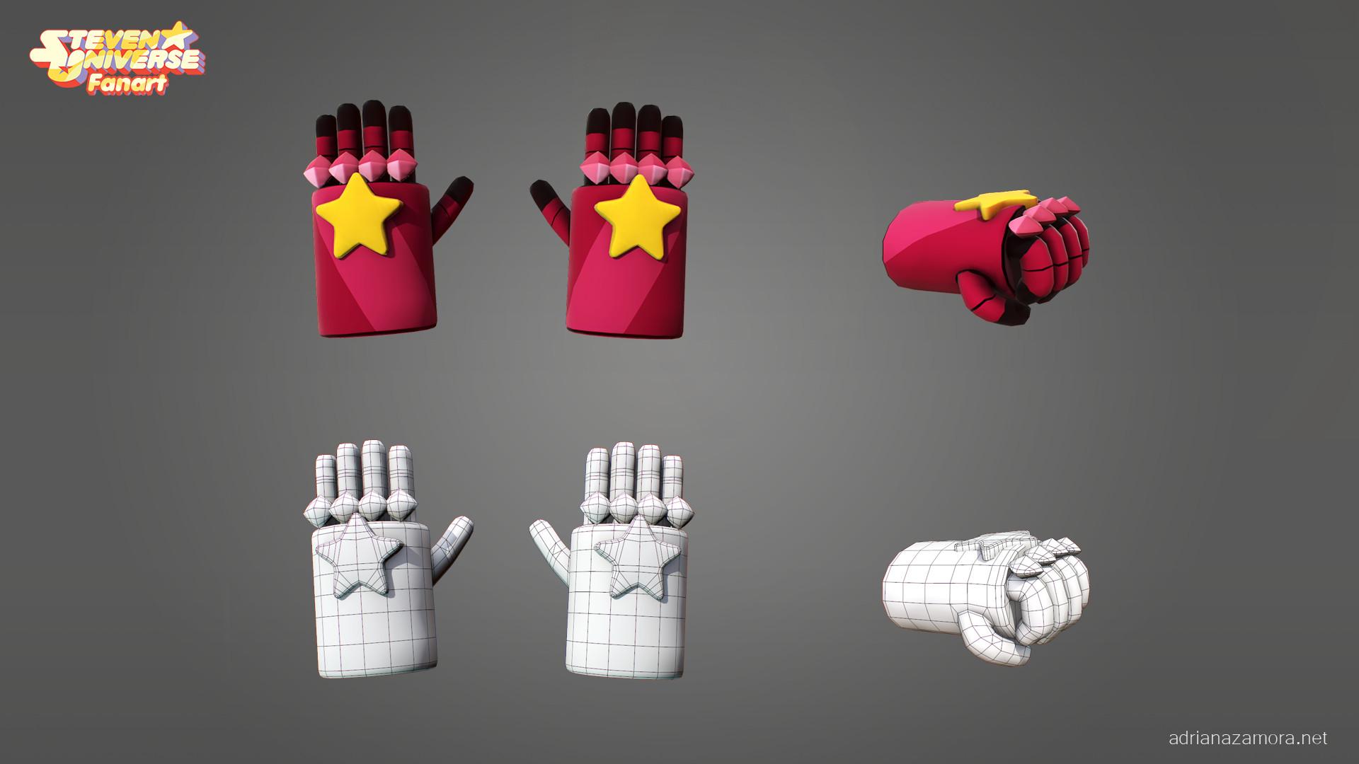 Adriana zamora garnet gloves adrianazamora