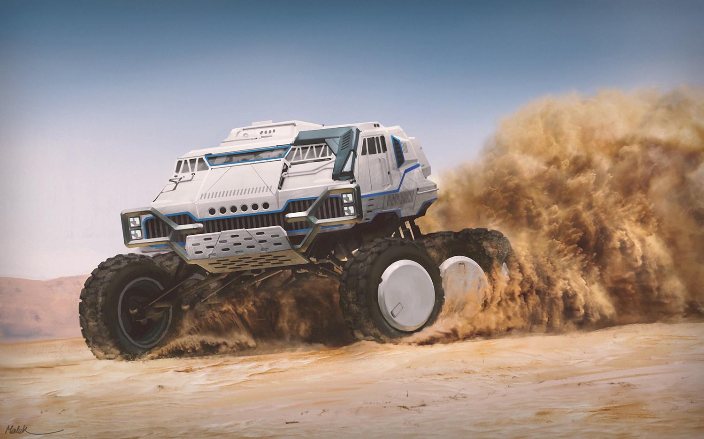 ArtStation - Desert Race, Mehrdad Malek