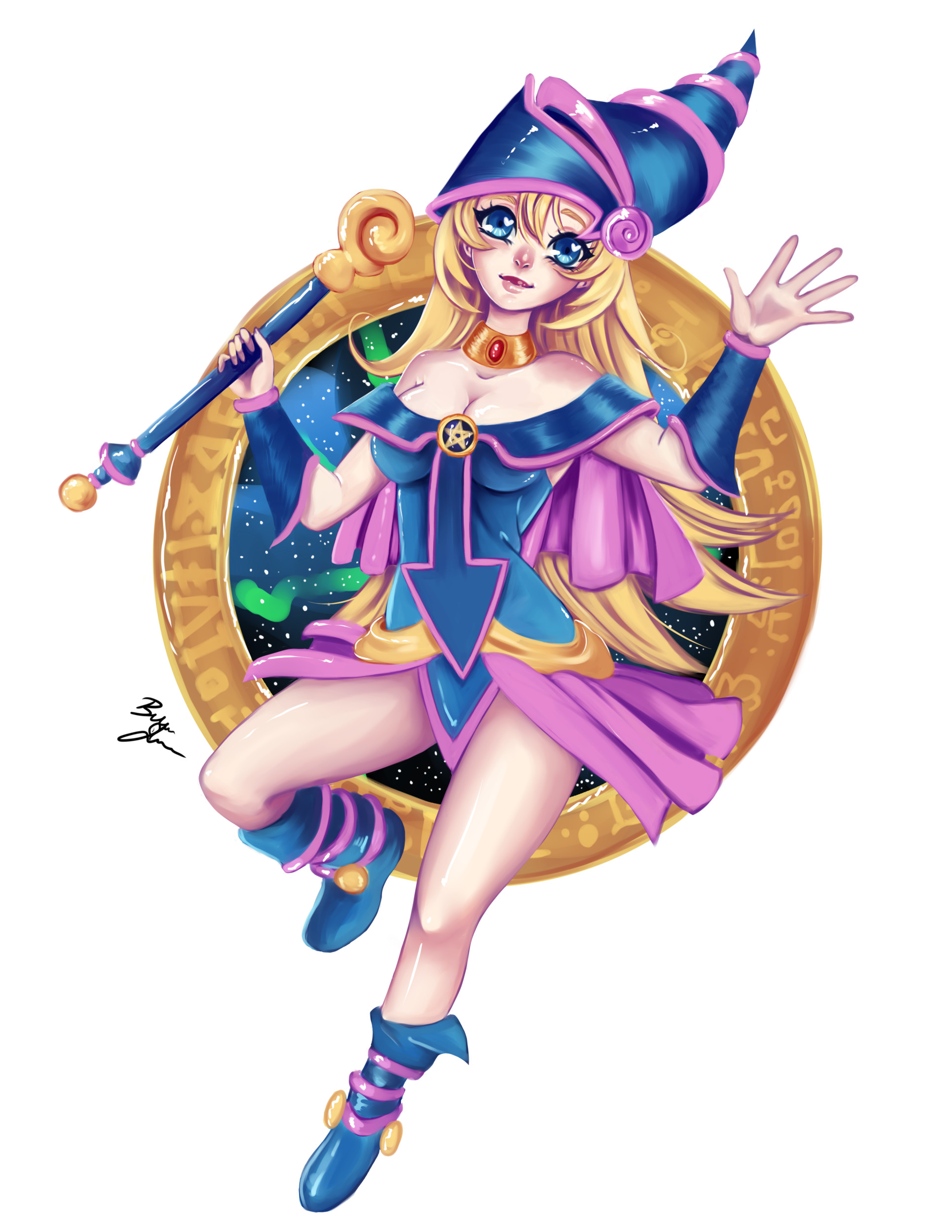 Your dark magician girl art for that