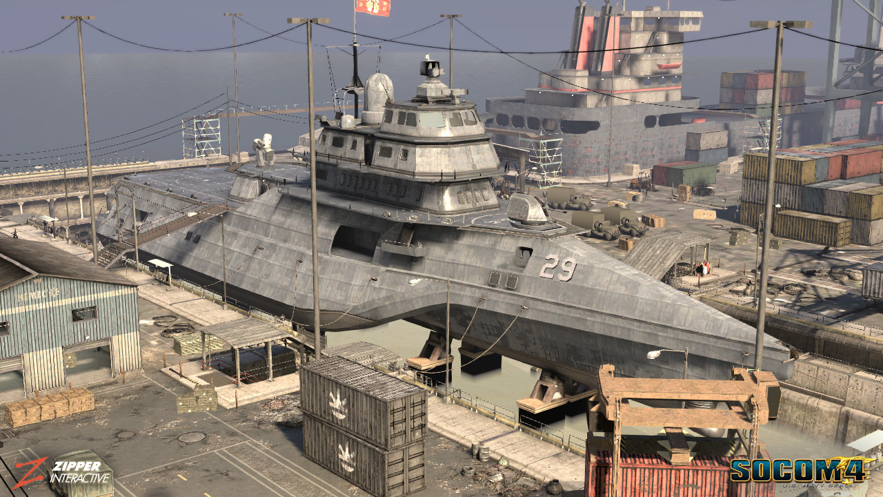Responsible for modeling and texturing of the main littoral war ship. The littoral ship, was featured in both the Leviathan & White Tiger PVE missions, as well as the PVP map, Port Authority.