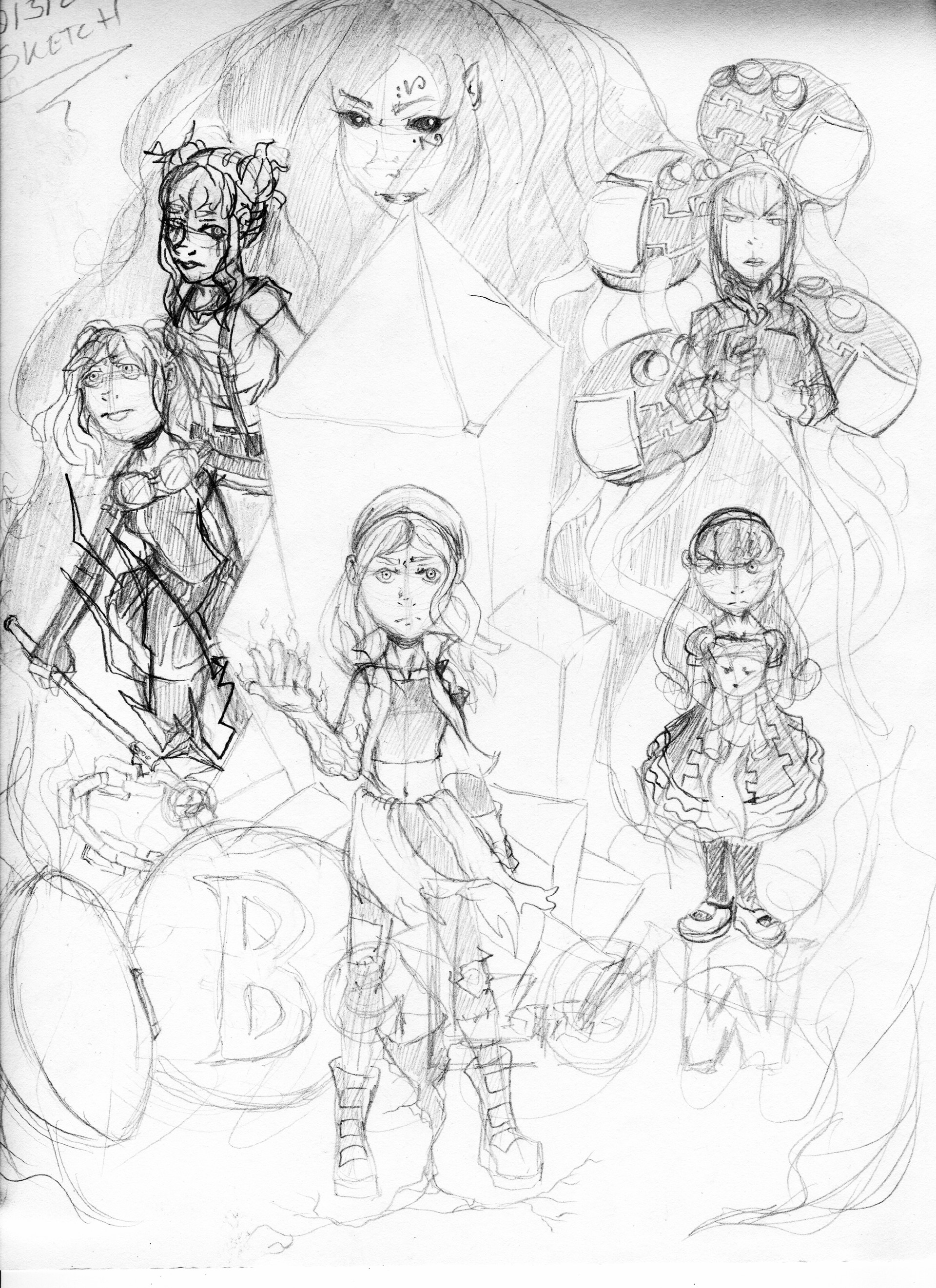 Detonya kan below poster sketch
