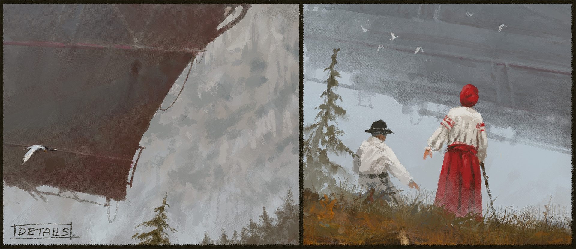 Jakub rozalski airship expansion cover art process7