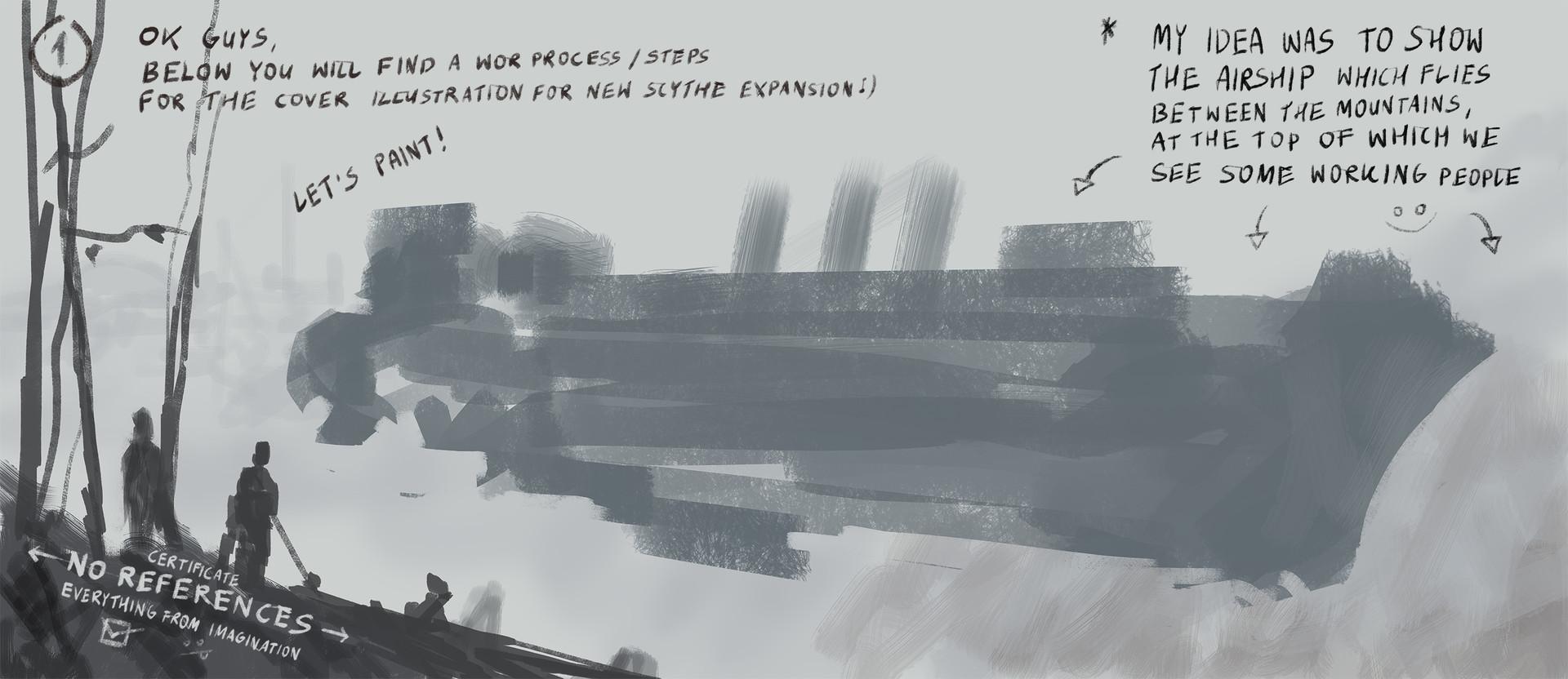 Jakub rozalski airship expansion cover art process0