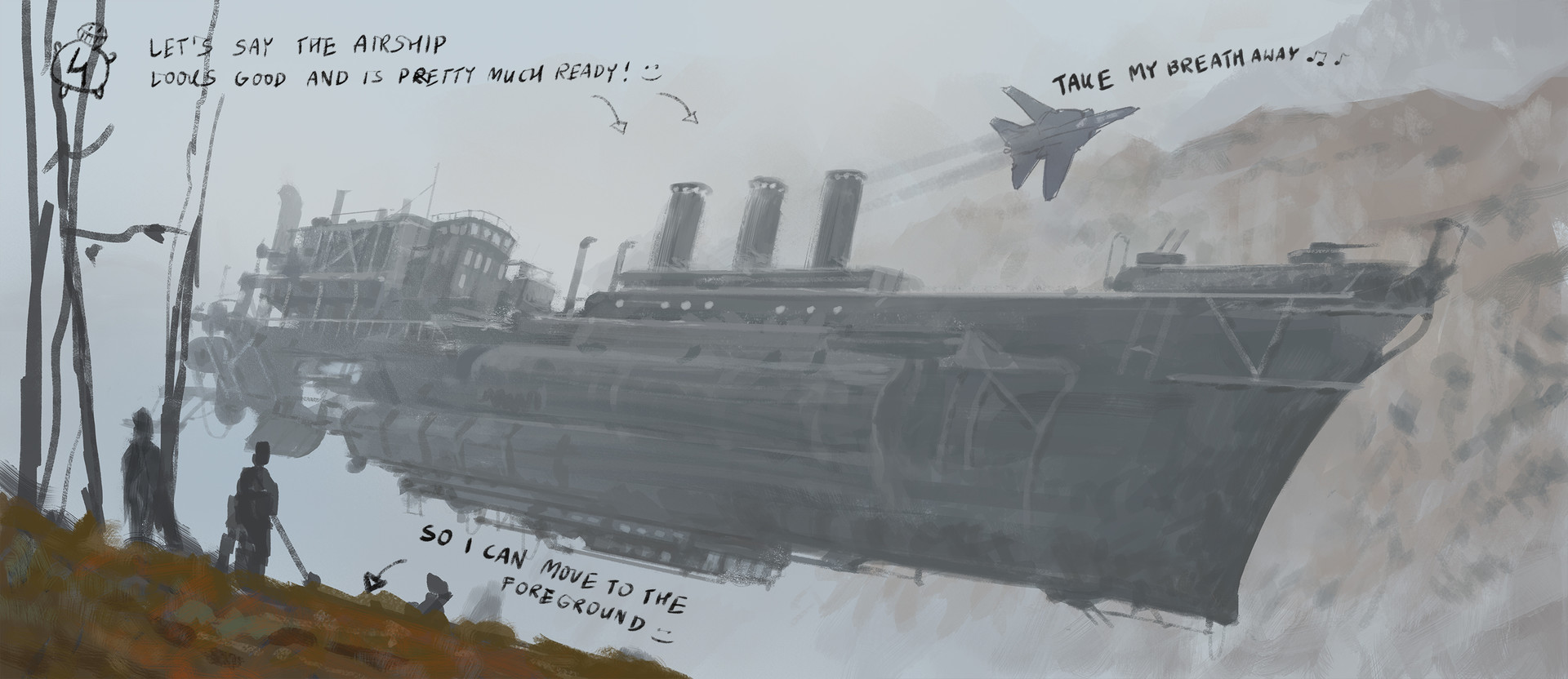Jakub rozalski airship expansion cover art process3