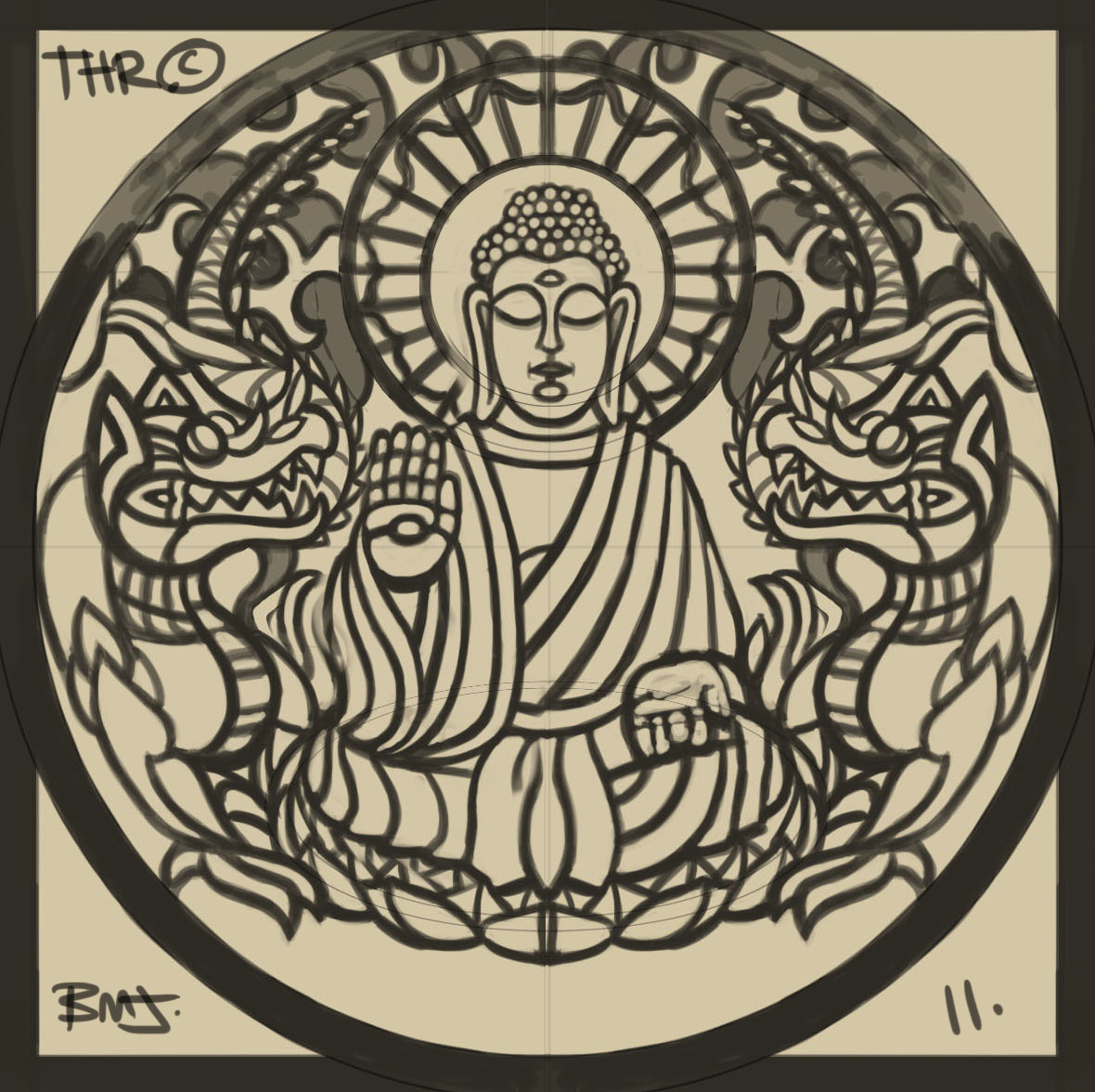 Buddha Sketch design