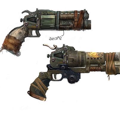 John mccambridge bulletstorm flare gun sketch wip10