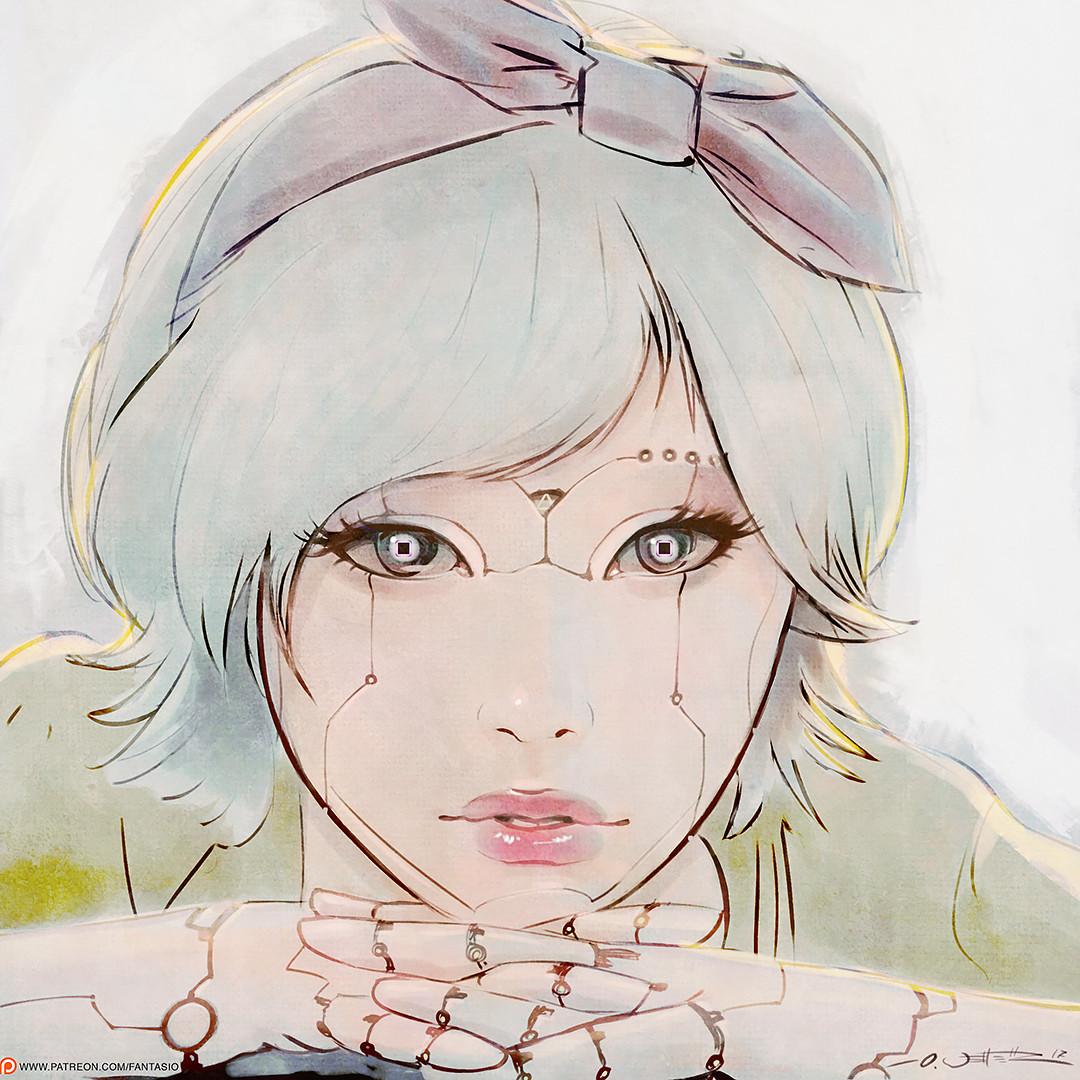 Square Eyes Portrait