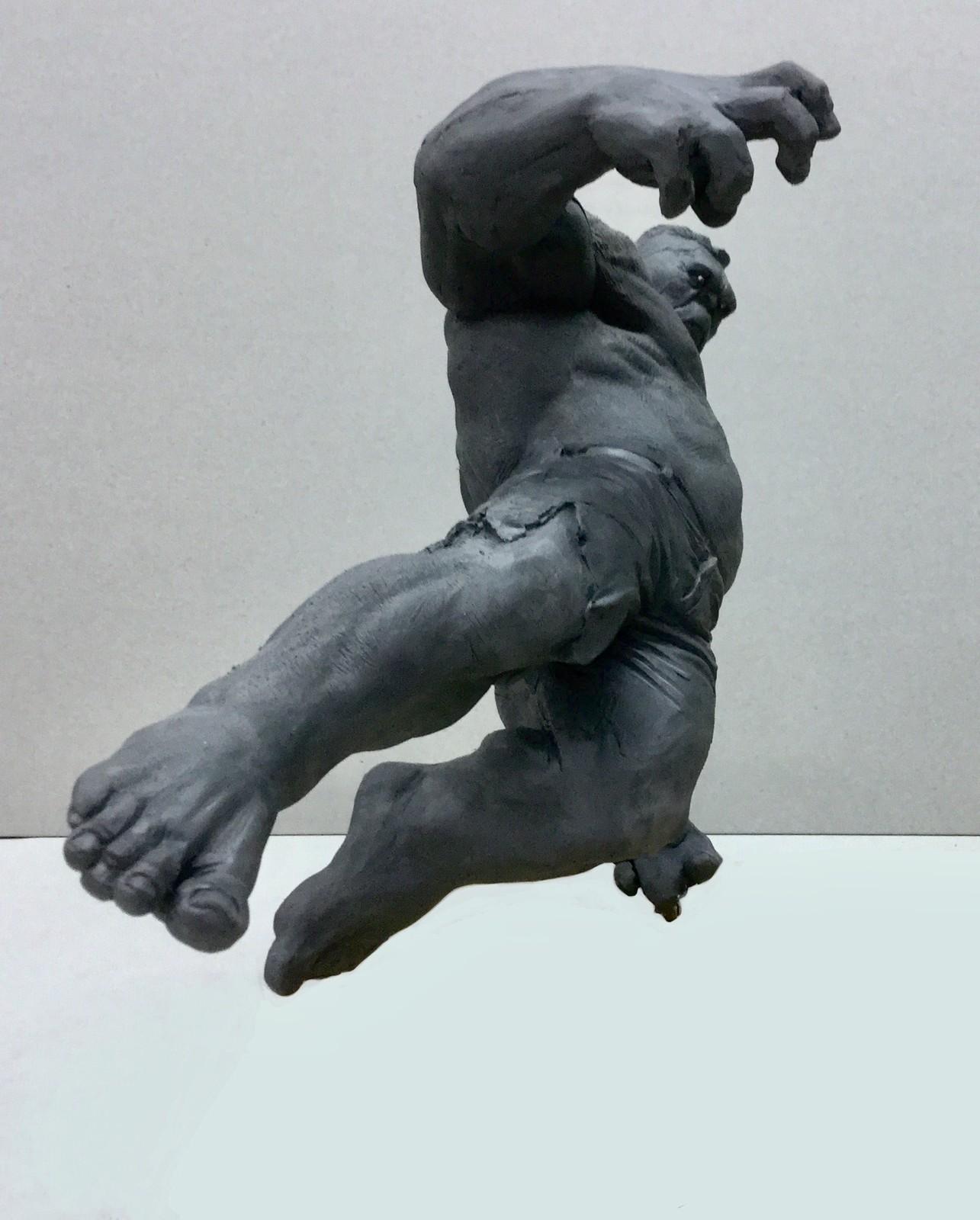 Hulk/ guick sketch/ plasticine