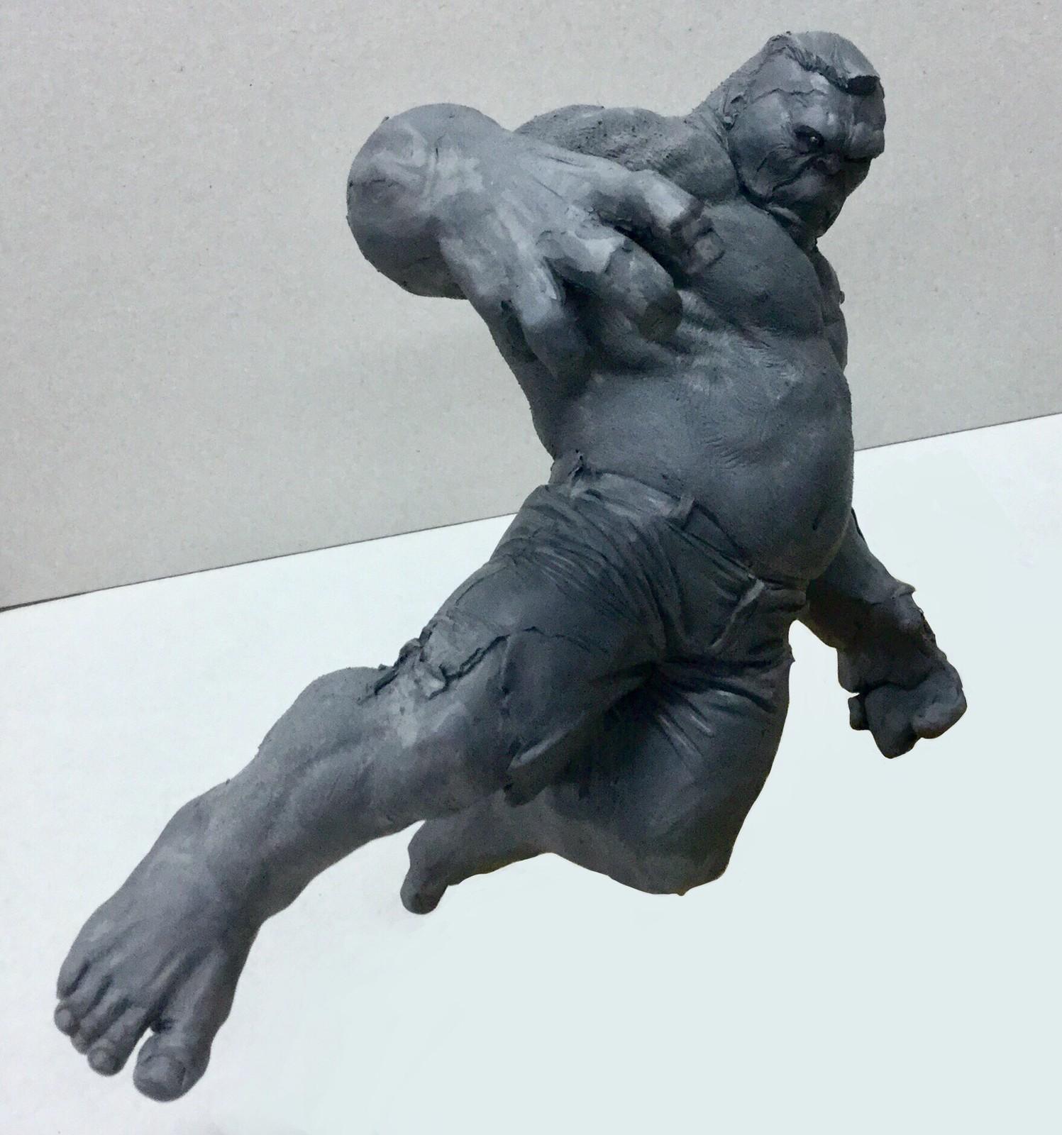 Hulk/wuick sketch/ plasticine