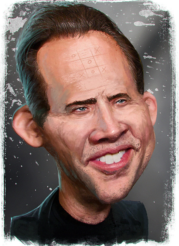 Nicholas Cage Caricature