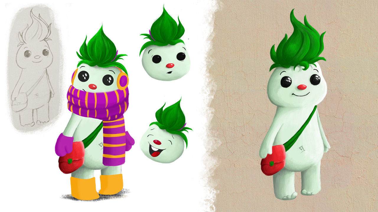DigitalKidZ Imagination board game character design - Zed
