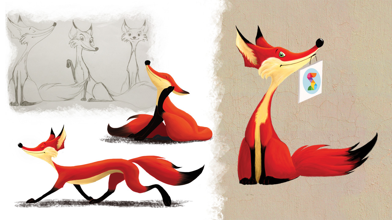 DigitalKidZ Imagination board game character design - Fox