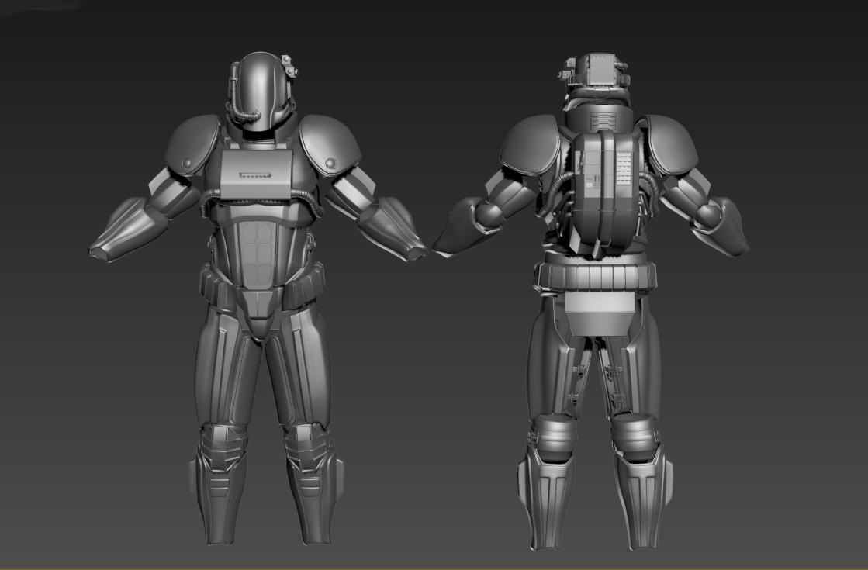 ArtStation - B-35C Heavy Brotherhood of Steel armor (Fallout