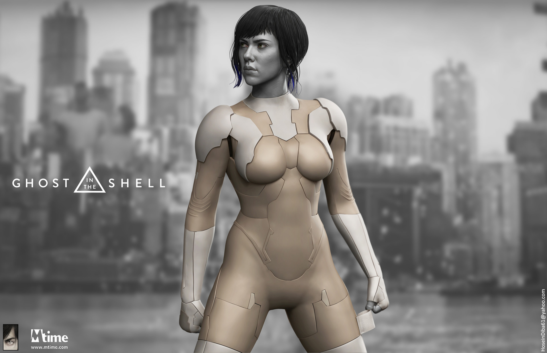 Artstation Ghost In The Shell The Major 1 6th Collectible Statue Mtime Hossein Diba