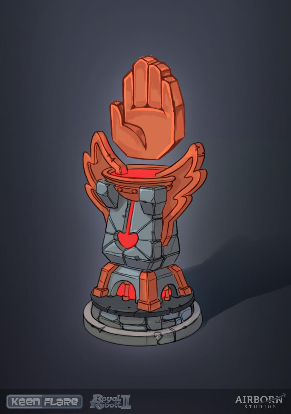Royal Revolt 2: Heal Tower final concept  Dominik Gröstlinger