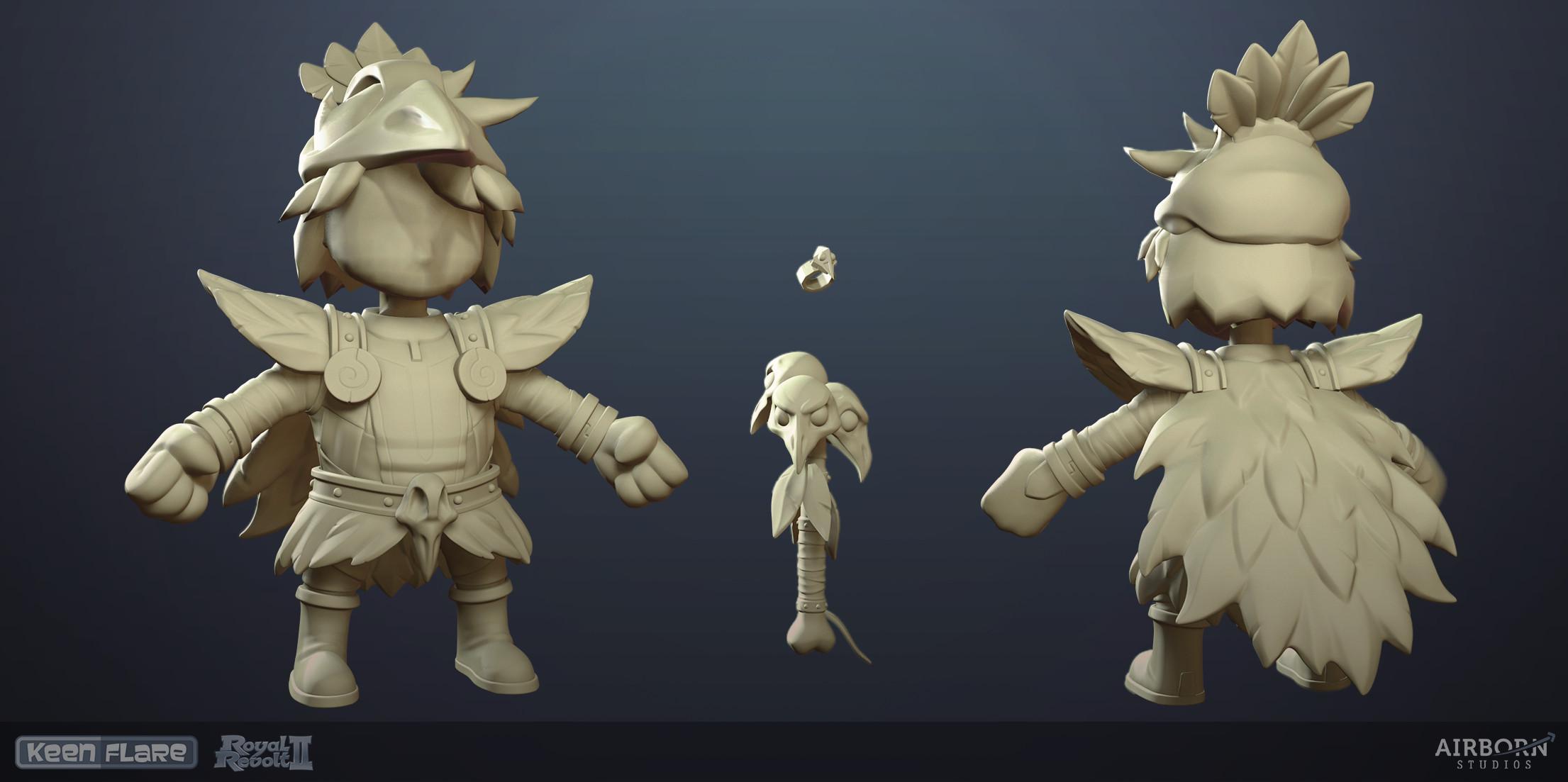 Royal Revolt 2: Necromancer Item Set high-poly model by Alexandra Graap