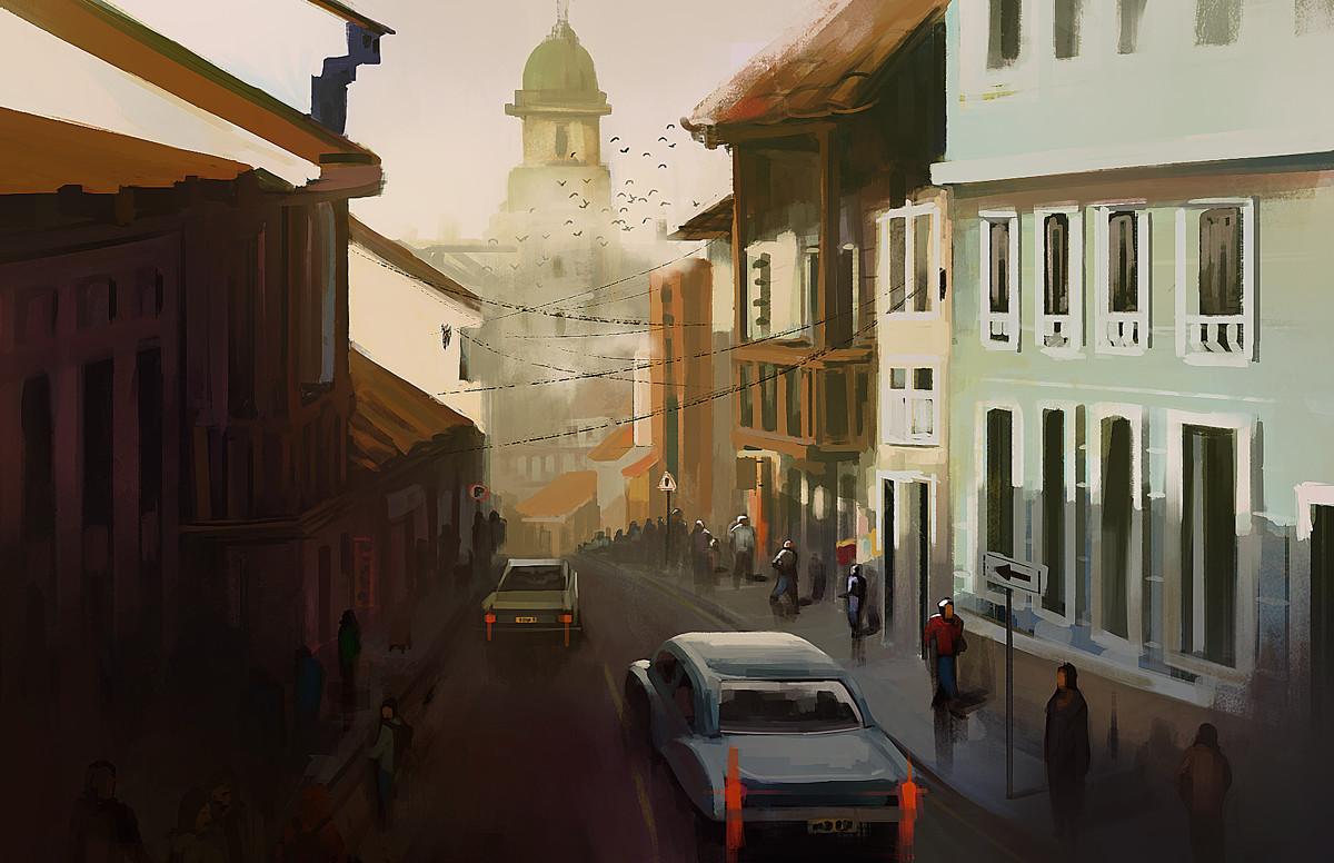 Bogota sketch Candelaria