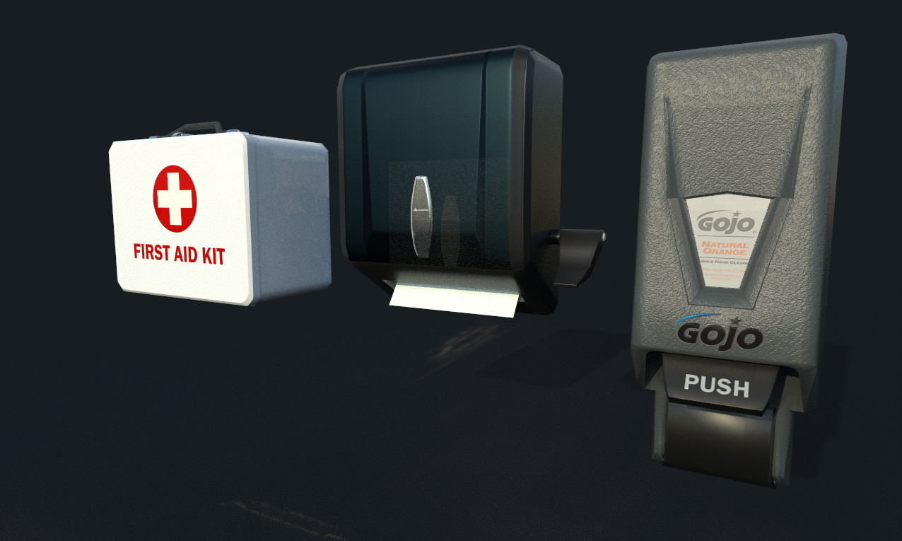 Wash Area Wall Mount Accessories