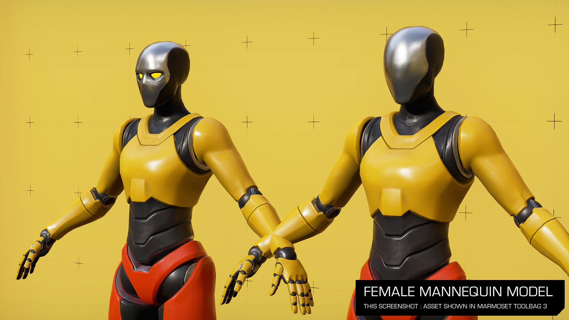 ArtStation - Female mannequin model for UE4, Unity and