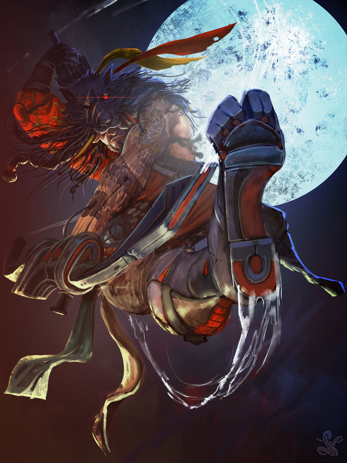 Hanzo The Black Wolf