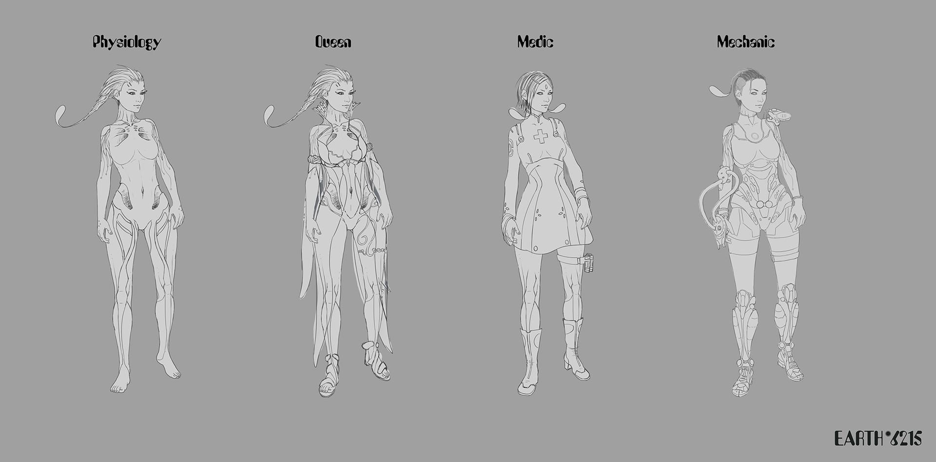 Tomasz smolka earth6125 characters conceptdesign sketches