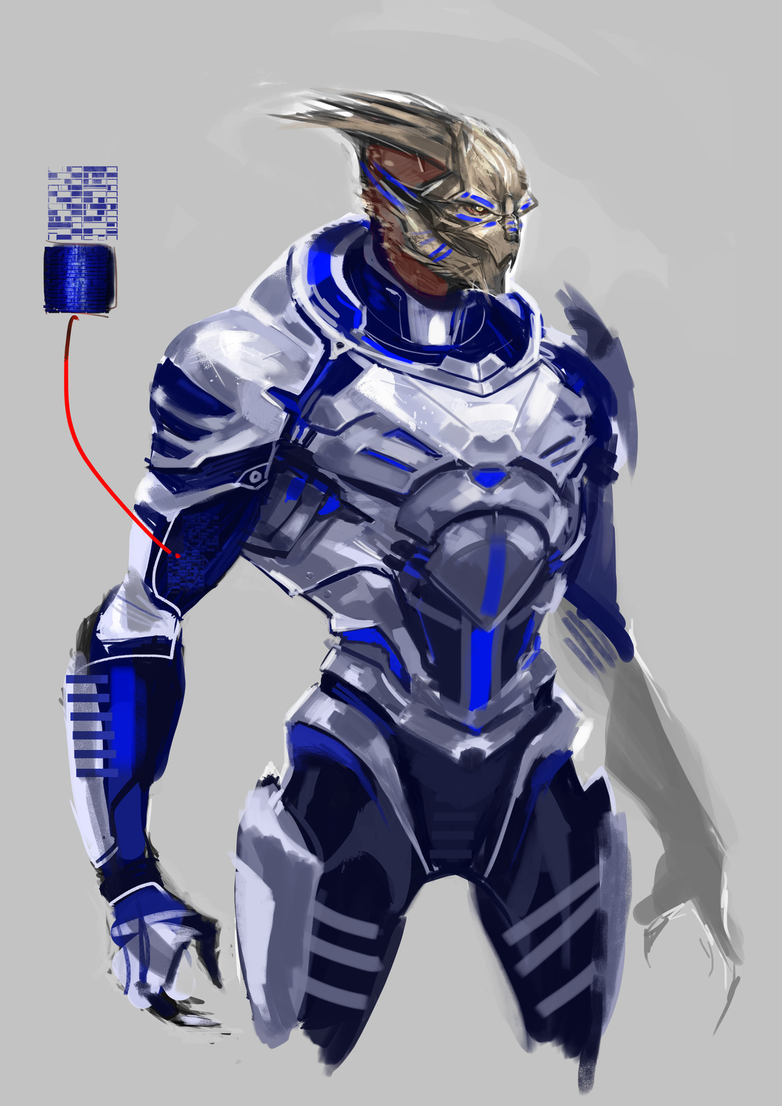 armour practise, neck should probably be higher for a turian but I might come back to that later.