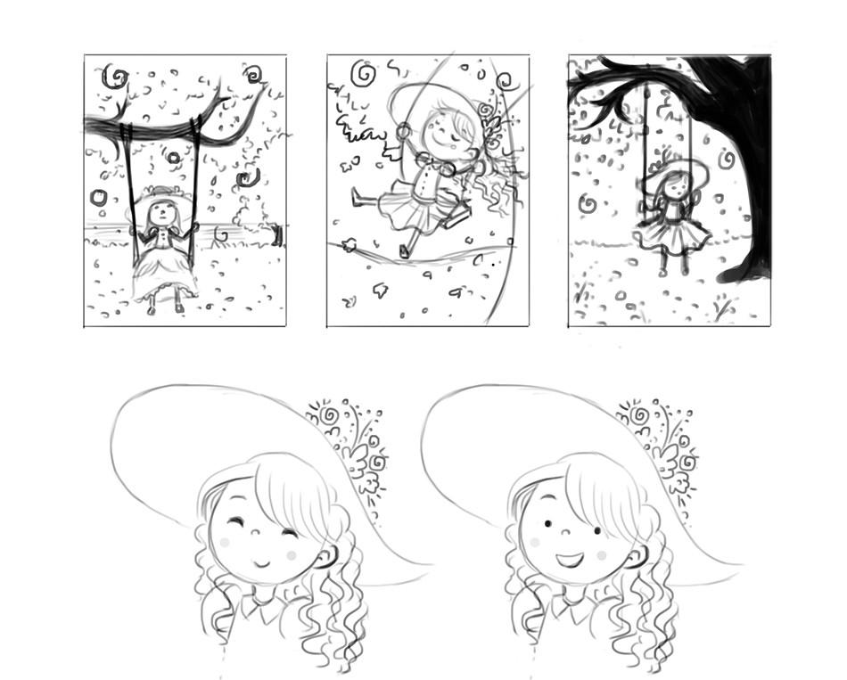 Bruna sousa folhas laranjas sketches