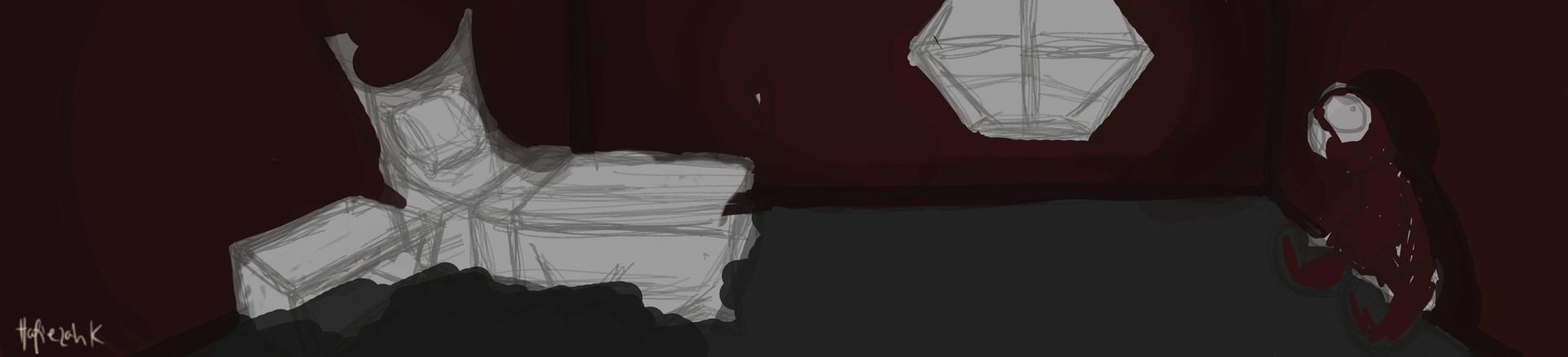 Sketch Hafiezah Kahil Scene2 2