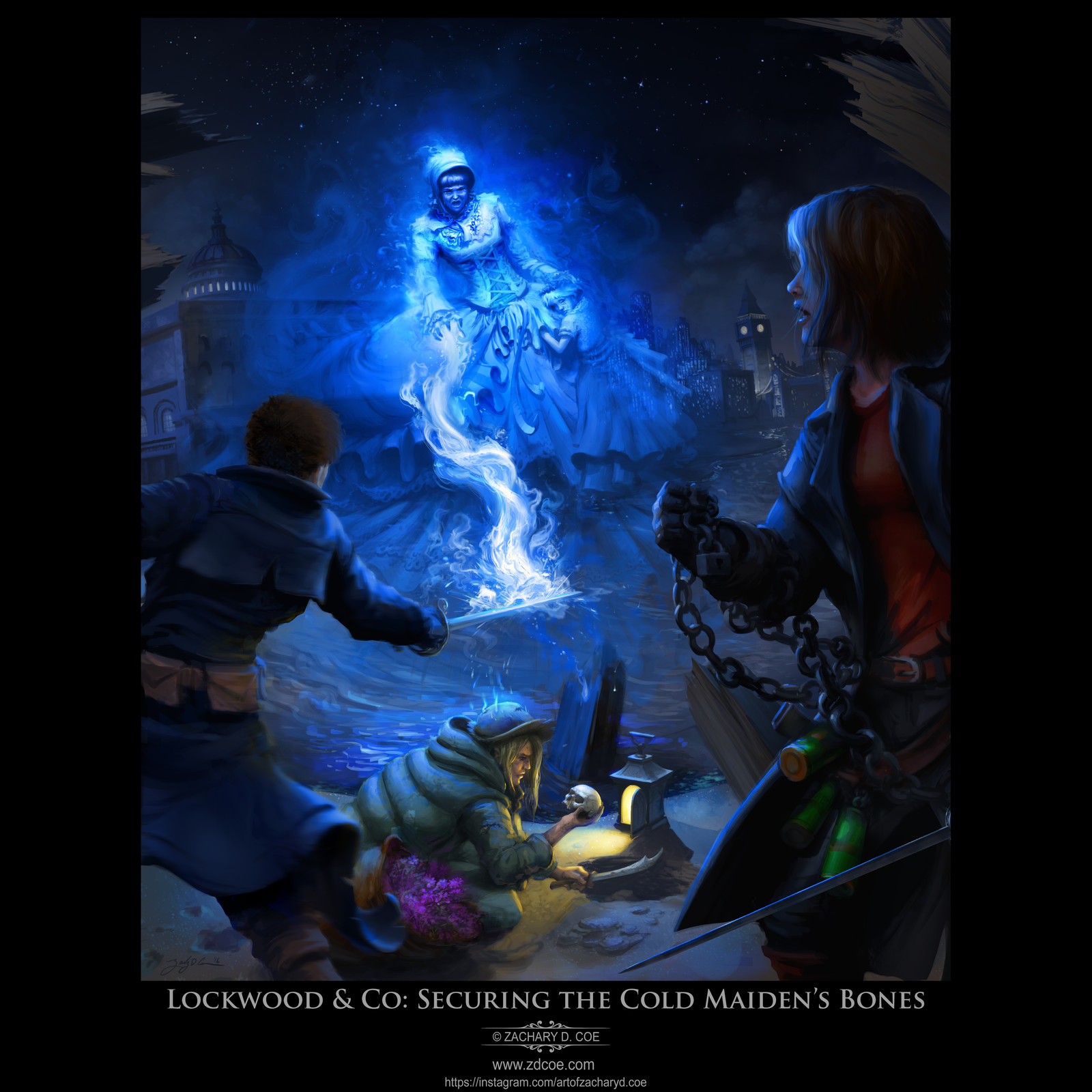 LOCKWOOD & CO: SECURING THE COLD MAIDEN'S BONES by Zachary D. Coe