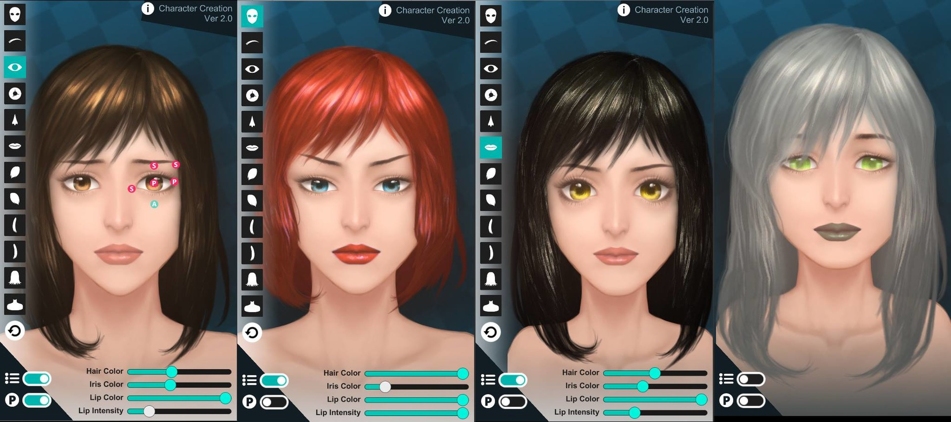 ArtStation - [Unity] [Mobile] 2D Character Face Maker, Ming