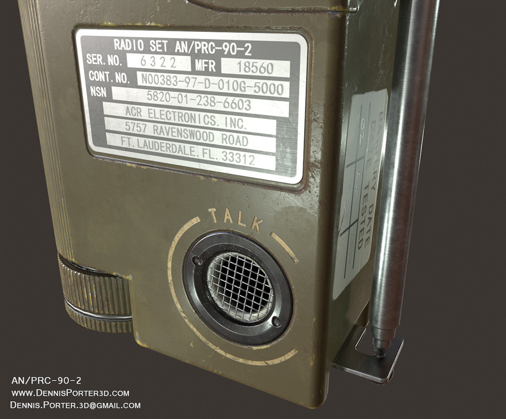 ArtStation - AN/PRC-90-2 Survival Radio, Dennis Porter