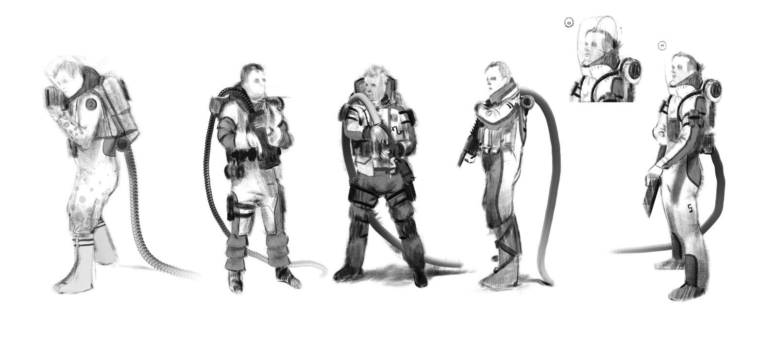Firefighter Sketches