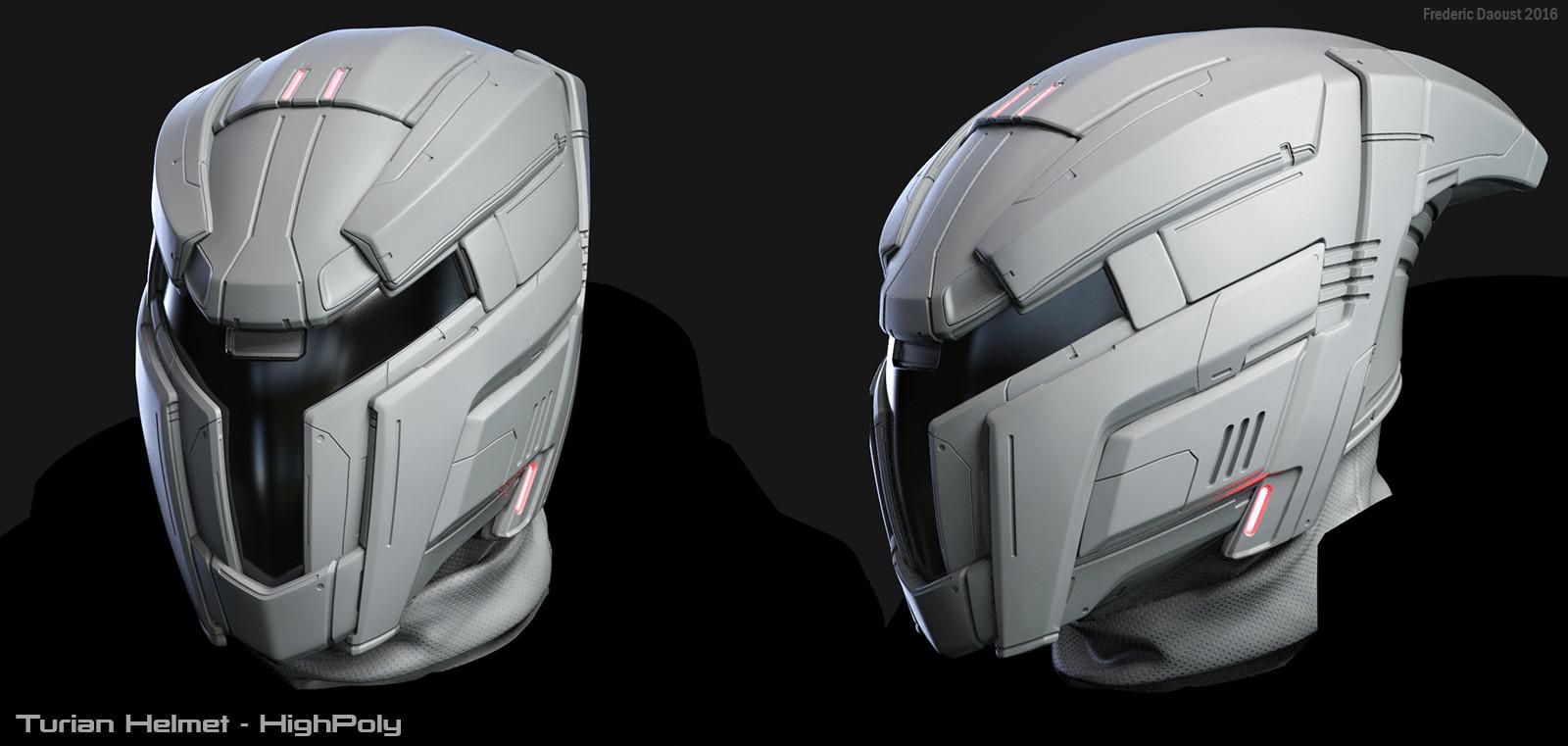 Artstation Mass Effect Andromeda Turian Helmet Frederic Daoust