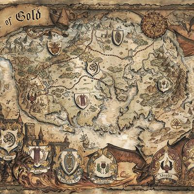 Francesca baerald age of gold fantasy map by francescabaerald db4ihvp