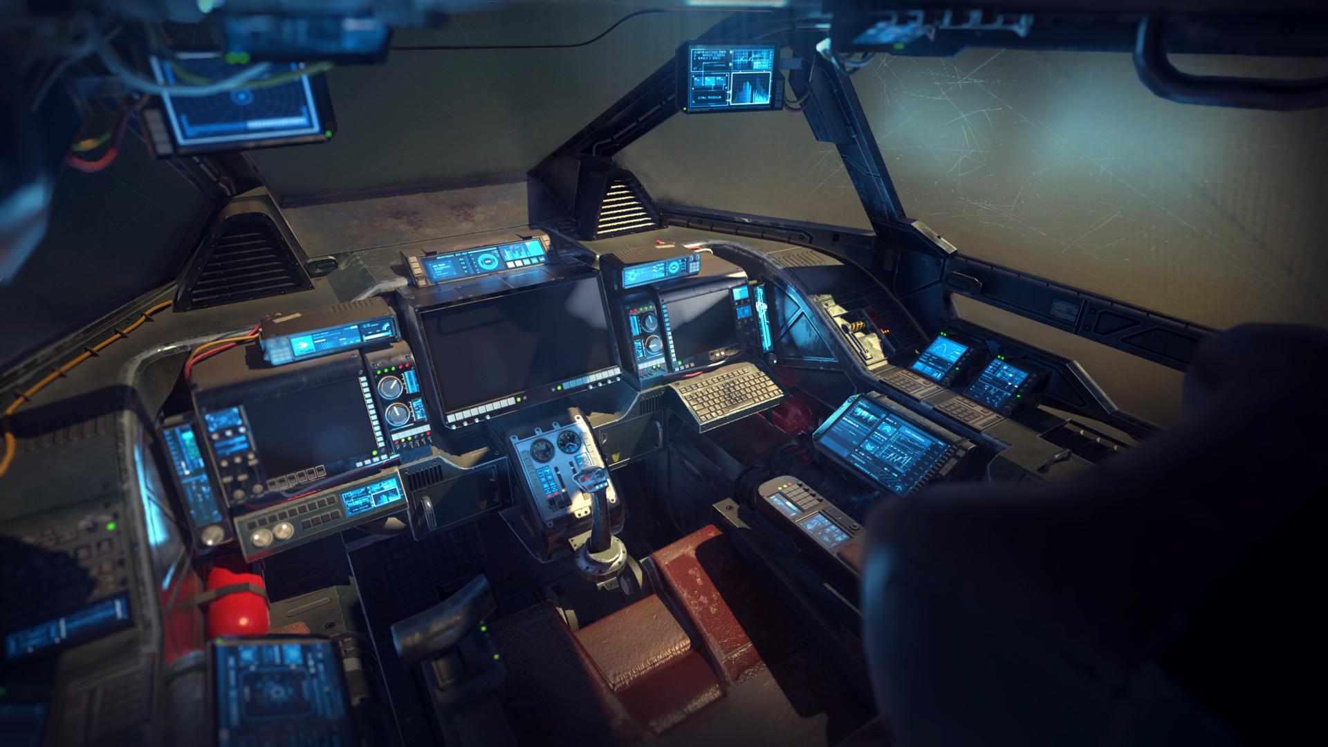 ArtStation - Heavy Fighter Cockpit, Vattalus Assets
