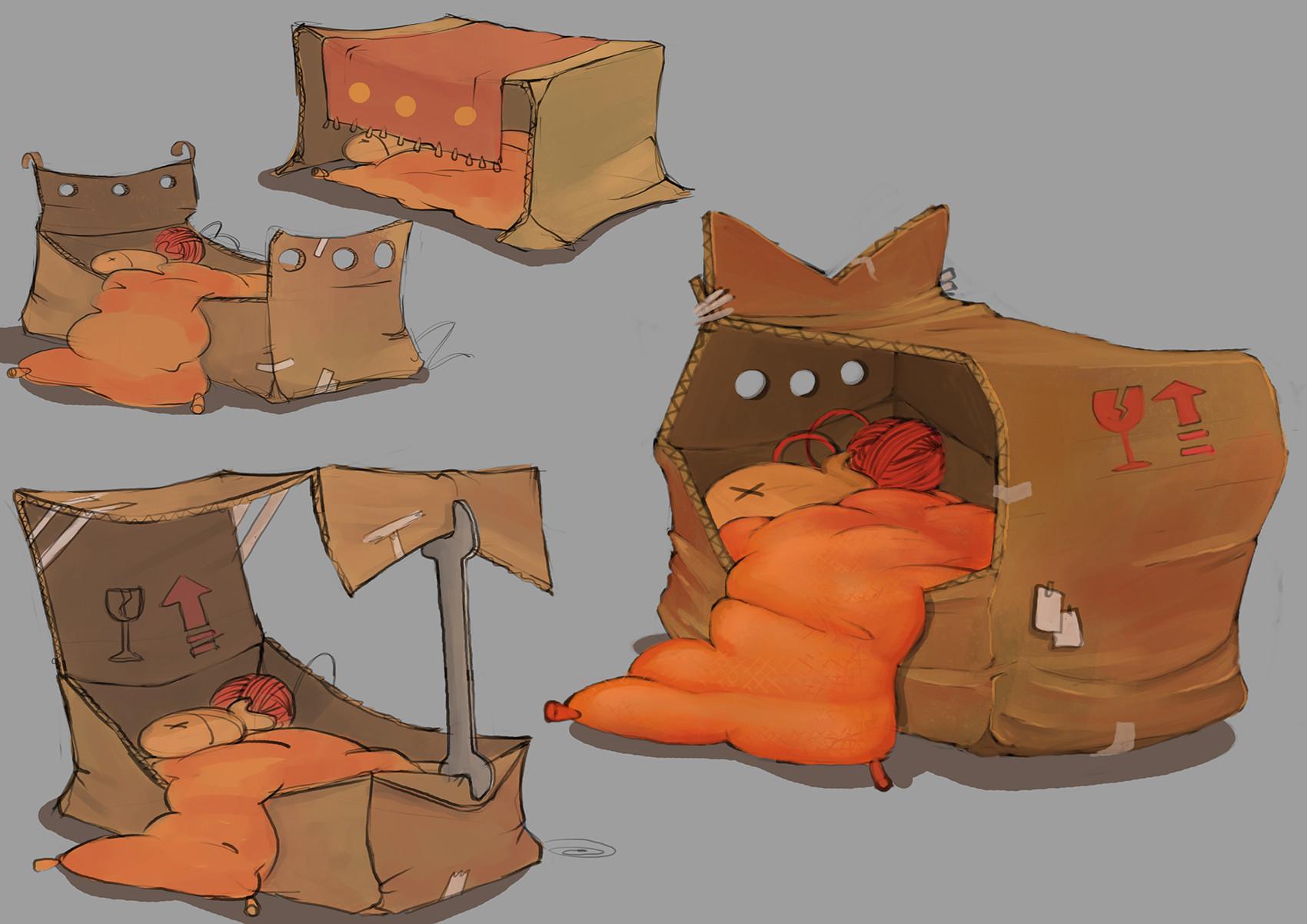 Gina voerde katzenhaus 4
