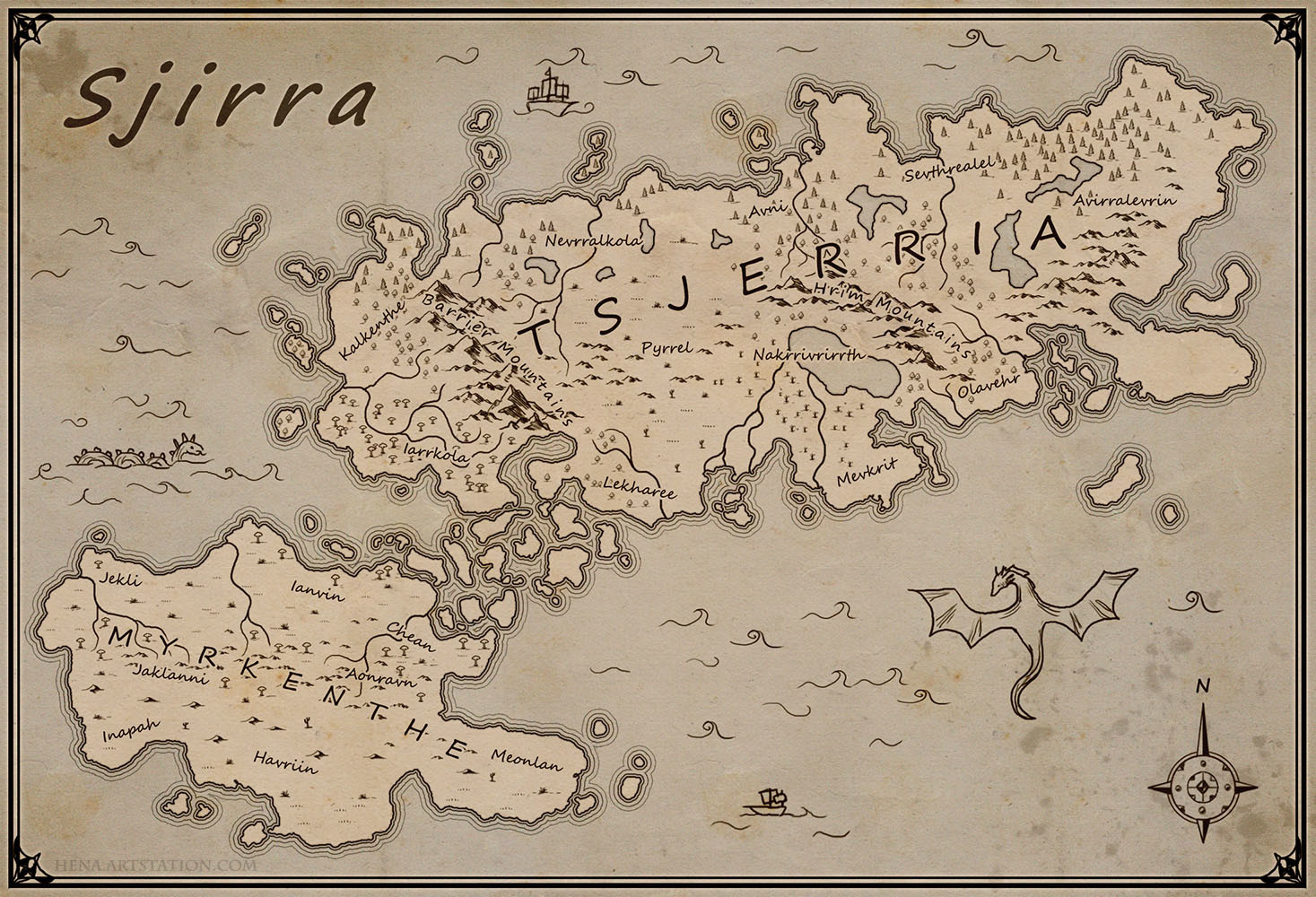 Map of Sjirra