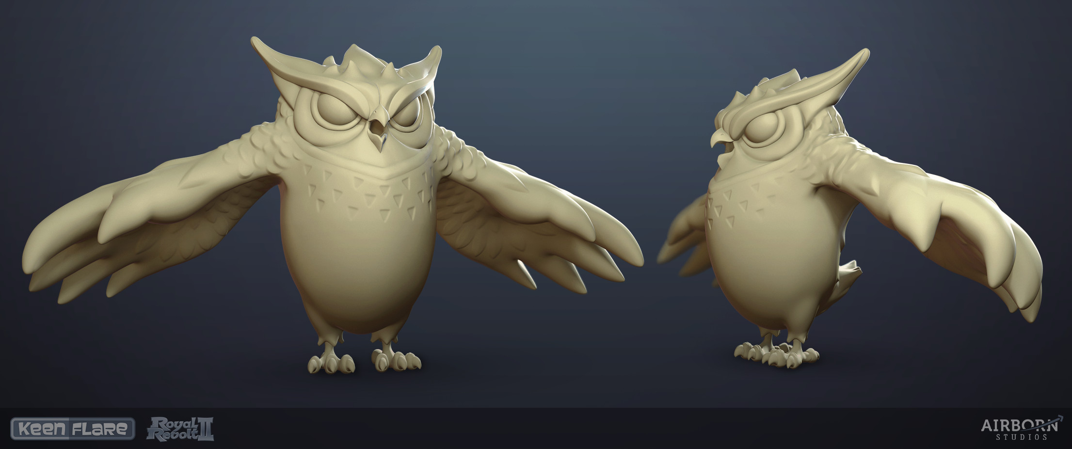 Royal Revolt 2: Twisted Archimedes high-poly model by Tim Moreels