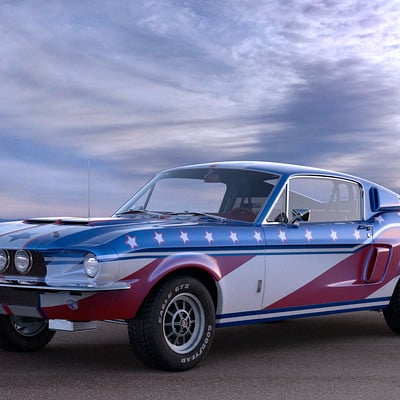 Ken calvert shelby gt500 usa front sunset