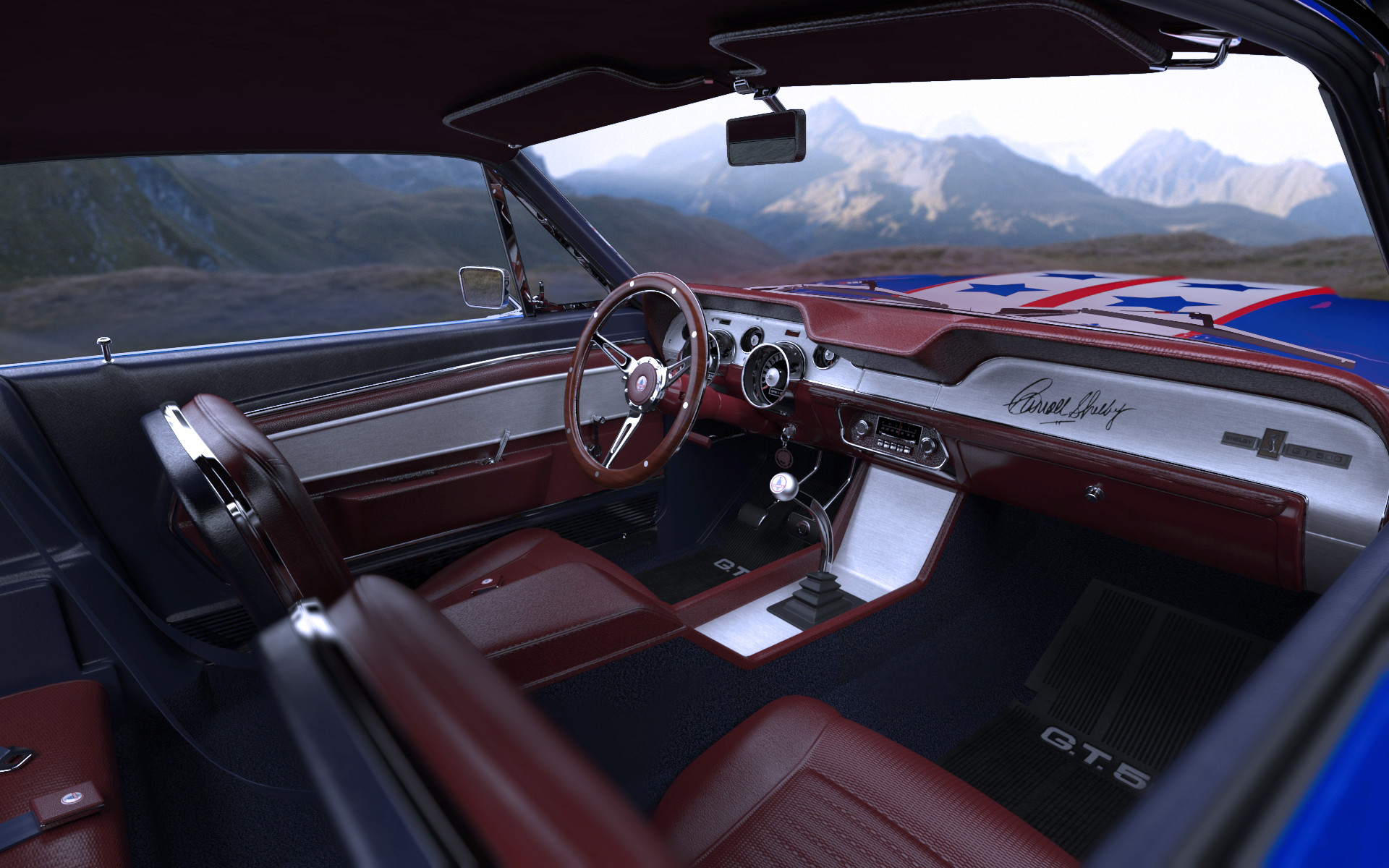 Ken calvert shelby gt500 usa interior 2