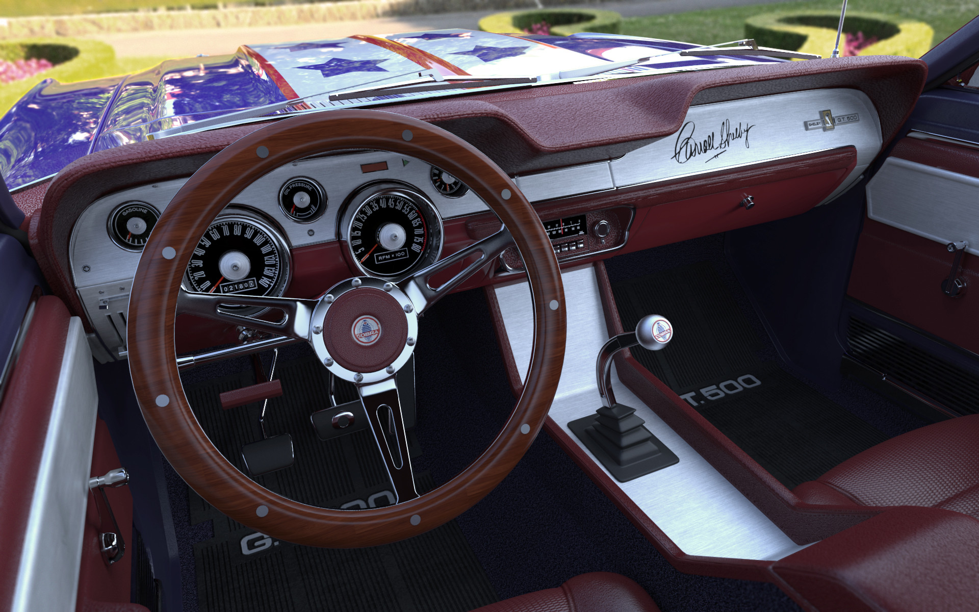 Ken calvert shelby gt500 usa interior 4