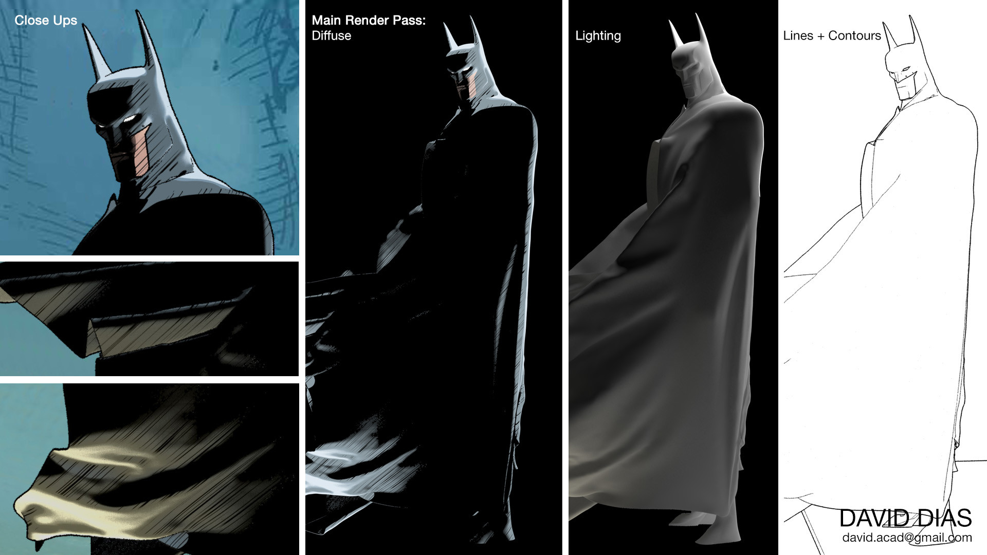 ArtStation - Batman 3D Toon Shader/Modeling, David Dias